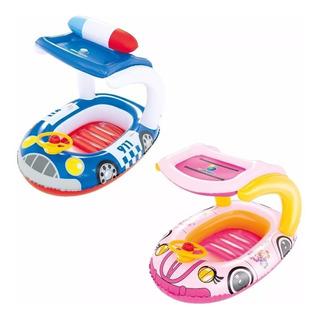 Inflable Flotador Bebes Niños Pileta Auto Con Techo Bestway