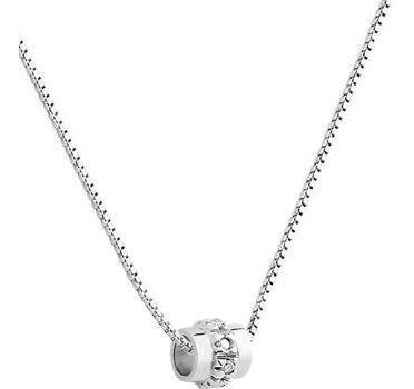 Colar Ouro Branco 18k 750 Com Diamantes Grife Vivara