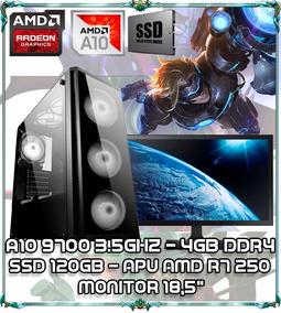 Cpu Pc Gamer A10 9700 Quad Core 3.5ghz 4gb Ddr4 Tela 18 B017