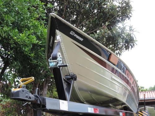 Barco De Alumínio Bico Fino De 6 Metros Esporte E Recreio