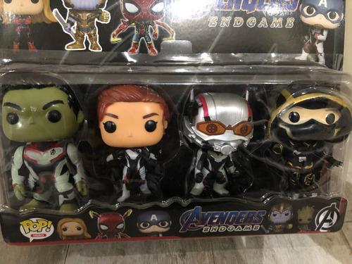 Muñecos Funko Pop Avengers X4 Spiderman Hulk Ironman