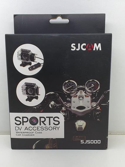 Caixa Estanque Sj5000 Original Sjcam + Carregador Para Moto