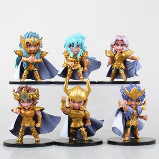 Figuras De Saint Seiya Caballeros De Oro Zodiaco Set X6 9cm