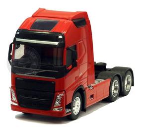 Miniatura Caminhão Volvo Fh Trucado Vermelho Welly 1/32