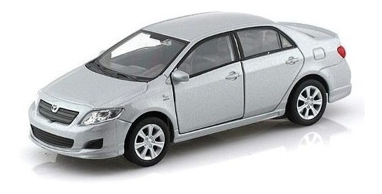 Toyota Corolla 2009 Escala 1:36 Welly Plata