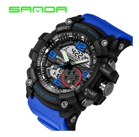 Relógio Esportivo Masculino Sanda Modelo 759 A Prova D