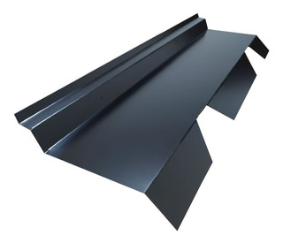 Babeta Sobre Chapa Trapezoidal T101 Color Negro X 1,22 Metro