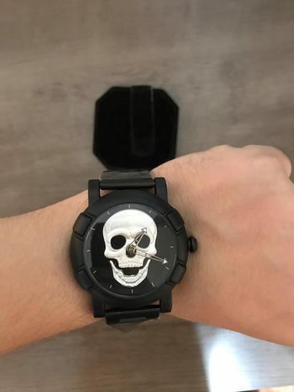 Relógio Skmei Skull - Novo - Frete Grátis - Caveira Prata