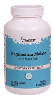 Magnésio Dimalato Malate Com 180 Tabletes Vitacost Importado