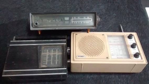 Lote 3 Radios Antigos No Estado