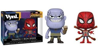 Figura Vinyl Thanos Iron Spider Avengers Infinity War Funko