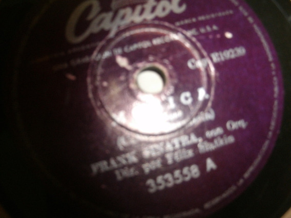 Disco 78 -pasta- Frank Sinatra