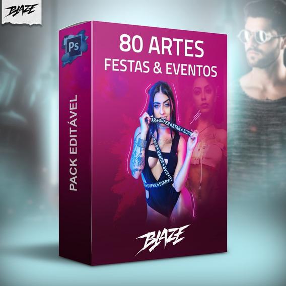 Pack 80 Artes Festa E Evento Editável Photoshop + Brinde