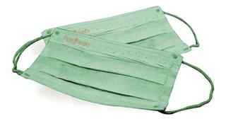 Cubrebocas Biodegradable Reciclable Lavable Plisado Lote 5pz