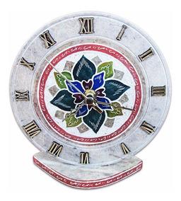 Relógio Decorado Em Pedra Sabão Exclusivo