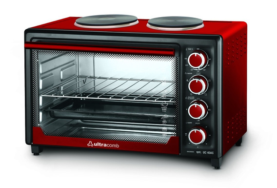 Horno Eléctrico Doble Anafe Ultracomb Uc 40ac 3200w Rojo