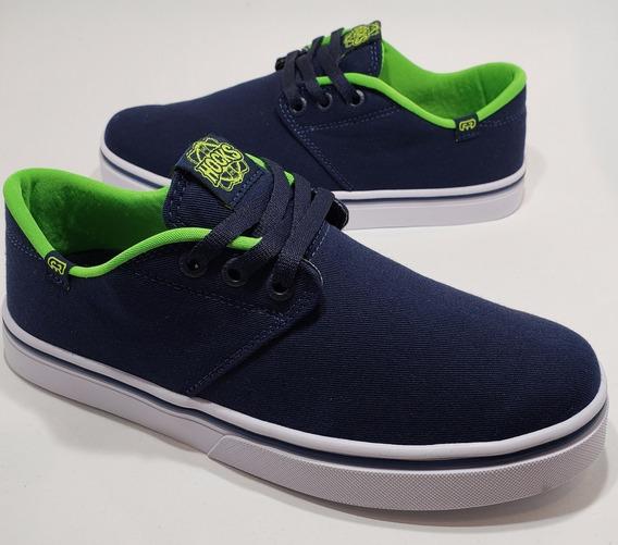 Tênis Hocks Skate Del Mar Azul Marinho Verde Lona Original