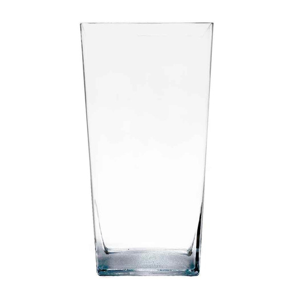 Florero Rectangular Conico Vidrio Cristal Prinz