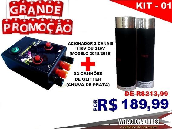 Kit Dj Efeitos Acionador Canhão De Papel Picado