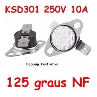 Termostato Ksd301 125 Graus - Normal Fechado - Nf Nc
