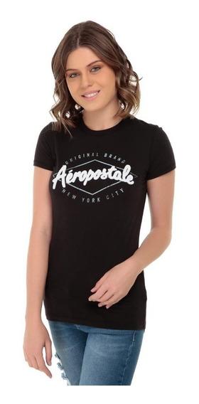 Remera De Mujer Aéropostale Color Negra Talle Xl