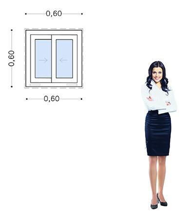 30%off-ventana Pvc 60x60 Doble Vidrio Corrediza - Incluye El