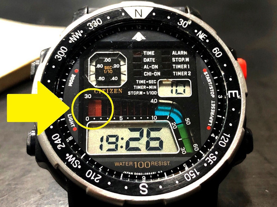 Citizen Windsurf D060 + Manual Original Detalhe No Display