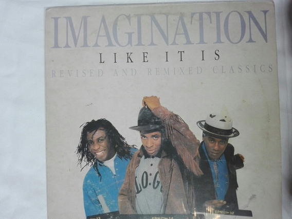 Lp Imagination Just An Ilusion Vinilo Like It Is 1988 Funk
