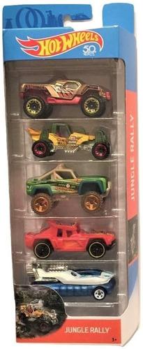 Hot Wheels Paquete De 5 Carritos, Escala 1/64.