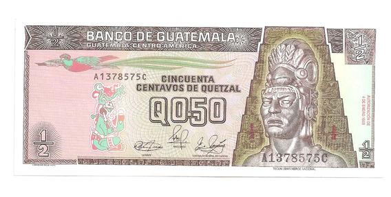 Cedula Guatemala 50 Centavos Quetzal - 1989 -fe