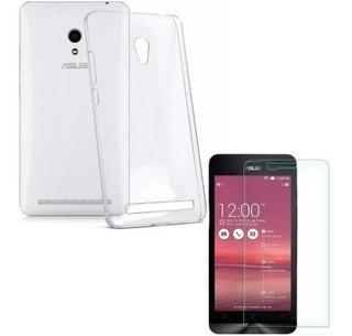 Kit Capa Case Asus Zenfone 5 Transparente + 2 Película Vidro