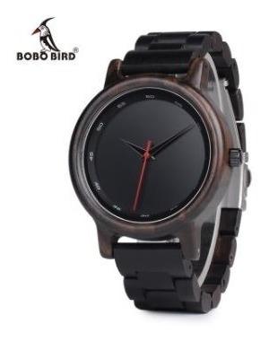 Relógio Unissex Bambu Analóg Bobo Bird Dark P10 + Frete