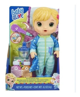 Baby Alive Prepara Mi Medicina Muñeca Hasbro E6927 Educando