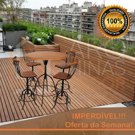 Kit Mesa Com 4 Cadeiras, Reguláveis, Artesanal P/ Jardim