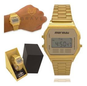 Relógio Masculino Dourado Mormaii Digital Original Garantia