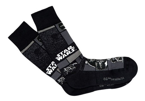 Meia Darth Vader Lupo Urban Star Wars Cano Médio