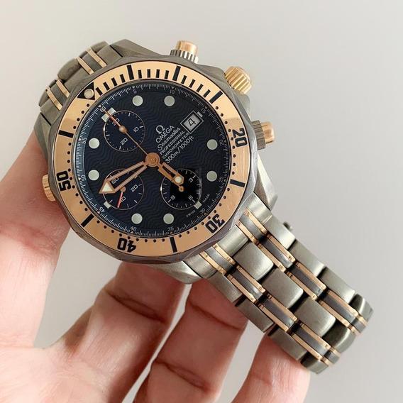 Omega Seamaster Diver Chrono Ouro Rosé & Titanium Impecável