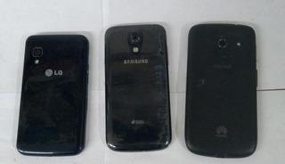 Lote C 3 Celulares Lg Samsung E Huawei No Estado