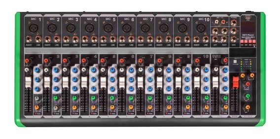 Mixer Pro Bass Pm 1624 Usb /mt Com Nota Fiscal