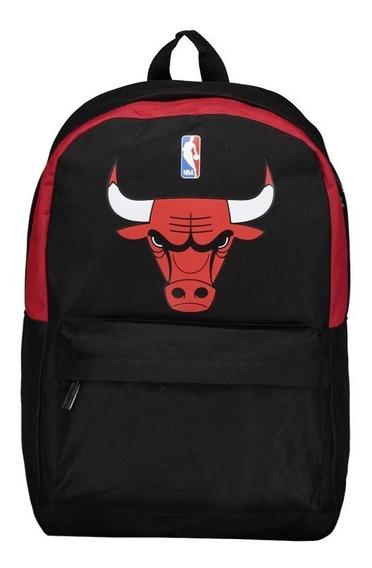 Mochila Nba Chicago Bulls Preta Original A Pronta Entrega