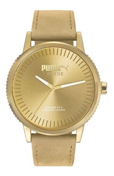 Relógio Puma Suede Masculino Dourado Importado