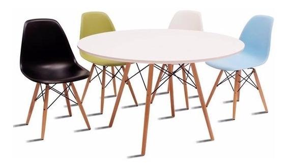Set Mesa Eames 90cm + 4 Sillas Comedor Moderno Minimalista!!