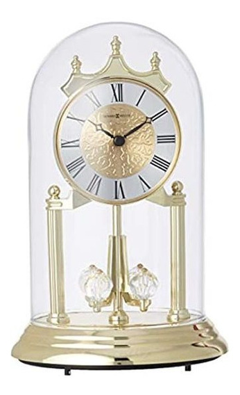 Howard Miller 645690 Anniversary Table Clock With Glass Dom