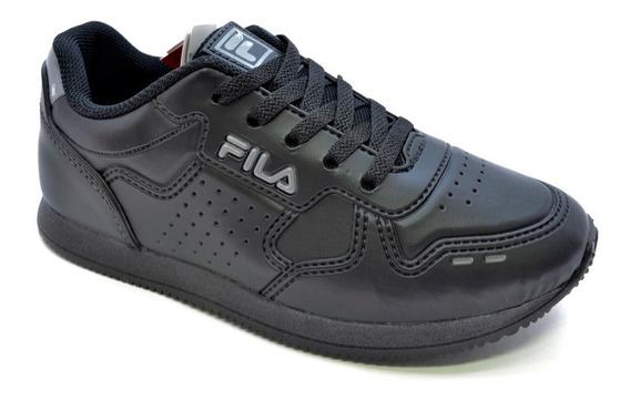 Zapatillas Fila Escolar Classic 92 Niños Negro Abc Deportes