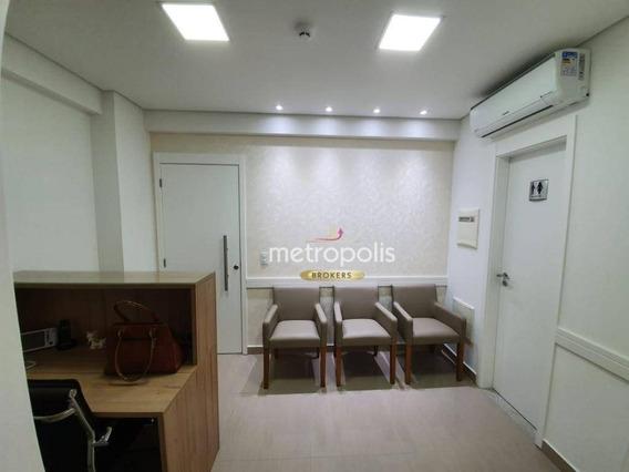 Conjunto Comercial Com 45 M² Para Locação - Espaço Cerâmica - São Caetano Do Sul/sp - Sa0419