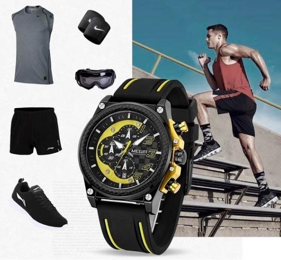 Relógio De Pulso Megir Masculino Militar - Esportivo
