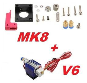 Kit Extrusora 3d Mk8 + Hotend E3d V6 1.75mm + Teflon Ptfe