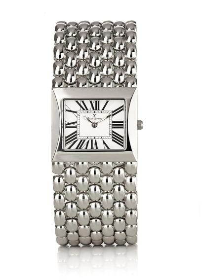 Relógio Jean Vernier Caixa Aço Pulseira Couro 5atm Jv00294