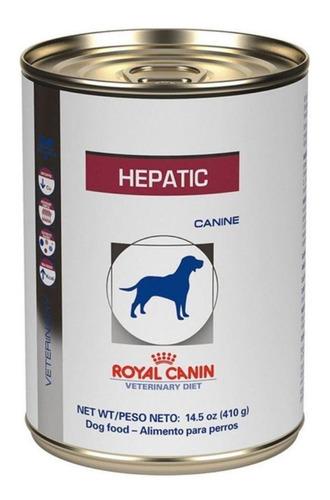 Ração Royal Canin Veterinary Diet Canine Hepatic para cachorro adulto sabor mix em lata de 410g