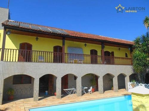 Chácara Com 6 Dormitórios À Venda, 2500 M² Por R$ 1.300.000,00 - Jardim Estância Brasil - Atibaia/sp - Ch1252